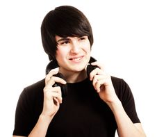 Free Boy With Headphones Stock Photography - 14645692