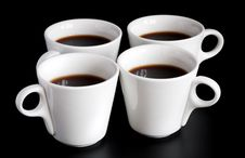 Free Four Coffee Cups Royalty Free Stock Image - 14645756