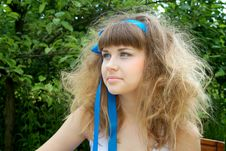 Free Beautiful Girl With The Crazy Hair Royalty Free Stock Photos - 14646018