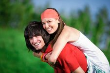Free Boy And Girl In Kerchief Stock Photography - 14646272
