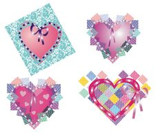 Free Lace Hearts Stock Photography - 14646872