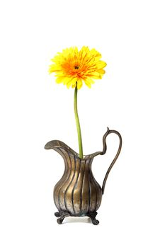 Free Ancient Brass Ewer With Flower Royalty Free Stock Photos - 14646958