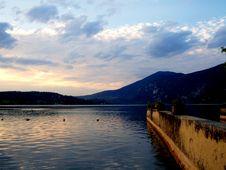 Lac D Aiguebelette Stock Photo