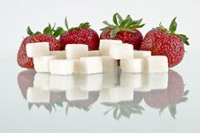 Free Strawberries And Sugar Stock Photos - 14647063