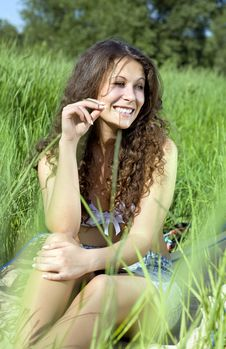 Free Woman In Grass Stock Images - 14647274