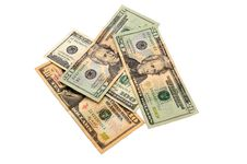 Heap Of Dollar Banknotes Royalty Free Stock Image