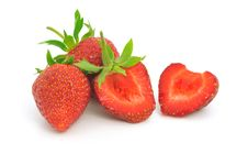 Free Strawberries On White Stock Photography - 14647582