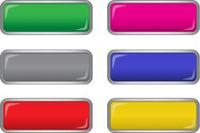 Free Vector Long Buttons Royalty Free Stock Images - 14647629