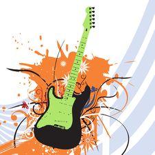 Free Grunge Guitar Stock Photo - 14647650