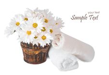 Flowers And Towels Stock Photo