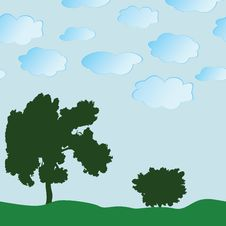 Free Seamless A Background With A Tree Royalty Free Stock Photos - 14647898