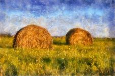 Free Two Beautiful Haystack Stock Images - 14648254