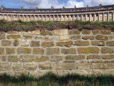 Royal Crescent View From The Park Royalty Free Stock Images