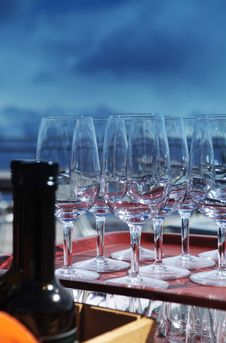 Free Bottle Of Wine And Glasses Stock Images - 14648694