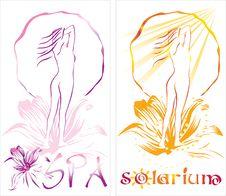 Spa & Solarium Banner Stock Photos