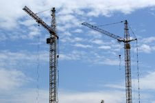 Free Elevating Construction Crane Royalty Free Stock Photography - 14649657