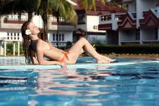 Free Woman In Swimming Pool Royalty Free Stock Photography - 14649977