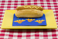 Free One Hot Dog With Mustard Royalty Free Stock Image - 14655806