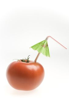 Tomato With Straw Royalty Free Stock Photography