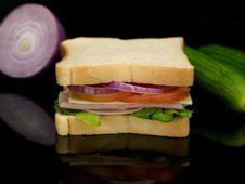 Free Ham Sandwich Royalty Free Stock Photo - 14650275