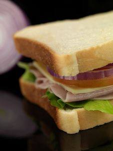 Free Ham Sandwich Royalty Free Stock Images - 14650299