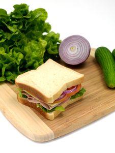 Free Ham Sandwich Royalty Free Stock Photos - 14650308
