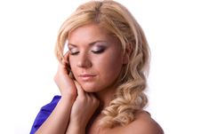 Portrait Of Beautiful Young Woman With Closed Eyes Royalty Free Stock Image