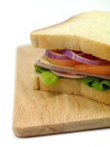 Free Ham Sandwich Royalty Free Stock Images - 14650339