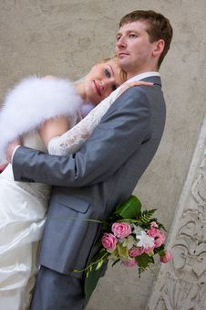 The Newly Married Couple Stock Photography