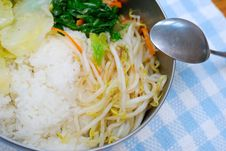 Asian Style Packed Meal Royalty Free Stock Photo