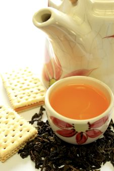Free Tea Pot And Biscuit Stock Image - 14651001