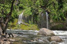 Mossbrae Falls, Dunsmuir Ca Stock Photos