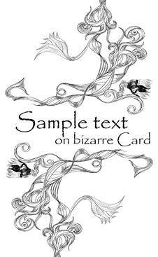 Free Bizarre Card(2).jpg Royalty Free Stock Image - 14651366