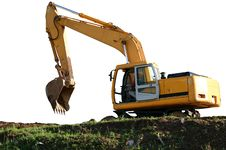 Free Heavy Buildind Excavator In Front Of Building Site Stock Images - 14651424