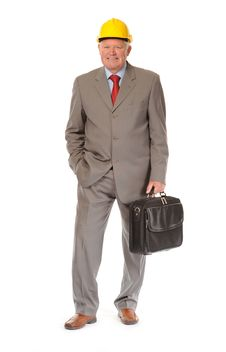 Free Successful Mature Businessman Or Foreman Royalty Free Stock Images - 14651459