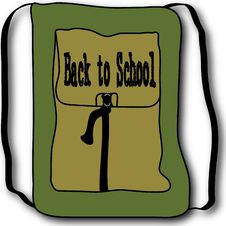Free Back To School Backpack Illustration Stock Photography - 14651472