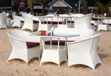 Free Restaurant On The Beach Stock Images - 14651494