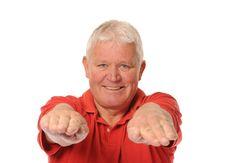 Free Senior Retired Man Stretching Royalty Free Stock Photos - 14651628