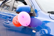 Free Wedding Car Decoration Royalty Free Stock Photography - 14652577