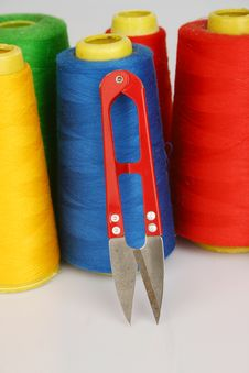Free Sewing Thread Pattern Royalty Free Stock Images - 14652589