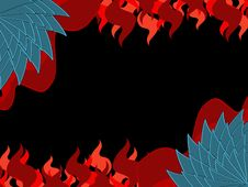 Free Dragon Skin  Flame Background Royalty Free Stock Image - 14652706