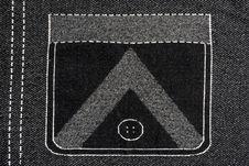 Free Denim Fabric With  Pocket Pattern Stock Photo - 14652750