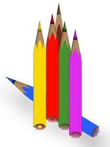 Free Drawing Pencils Royalty Free Stock Image - 14654776
