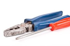 Free Pliers And Screwdriver Stock Photography - 14655122