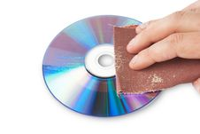 Free Funny CD Data Erase Theme Royalty Free Stock Photography - 14655137