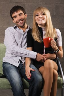 Young Cheerful Couple Royalty Free Stock Photo
