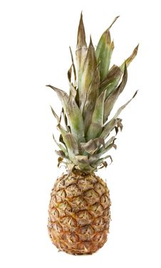 Free Pineapple Over White Stock Image - 14655411