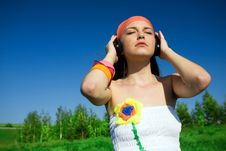 Free Girl With Headphones Stock Photography - 14655732