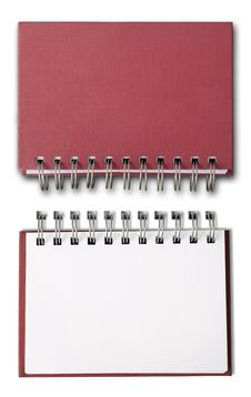 Red Blank Note Book Stock Images