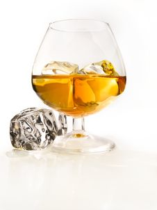 Free Brandy On The Rocks Royalty Free Stock Photography - 14656957